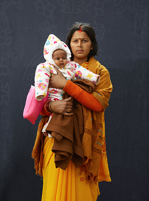 Pilgrim, Mamta Dubey and Infant