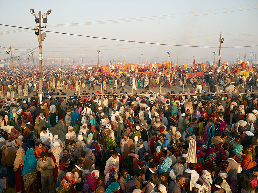 Sangam area, morning of Feburary 10th 2013, the main bathing day.