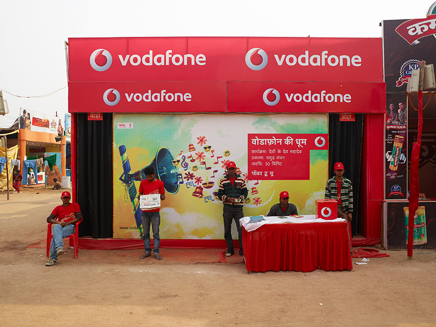 Vodafone kiosk, main marketplace (temporary)