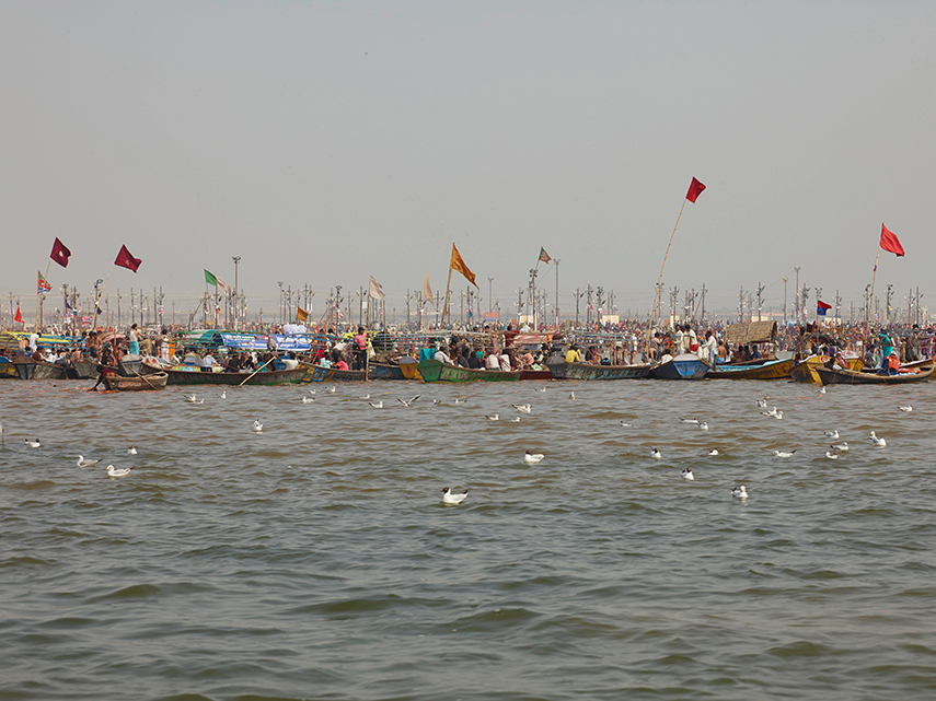 The Sangam - the con uence of the Ganges, Yamuna and mythical Saraswati rivers